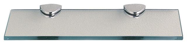 """Classic Chrome Glass Shelf, 12"""""""