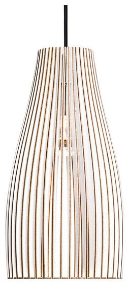 Ena Pendant Lamp, White and Black, Large