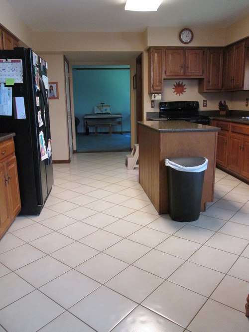 Kitchen Floor Tile Dilemma   From Light To Dark?