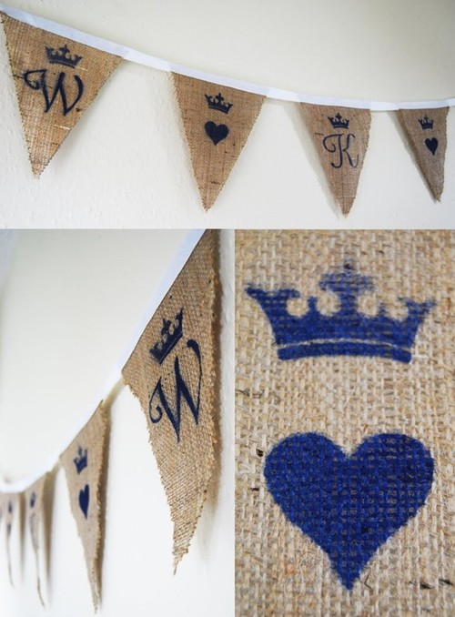 Rustic Royal Wedding Bunting  kids decor
