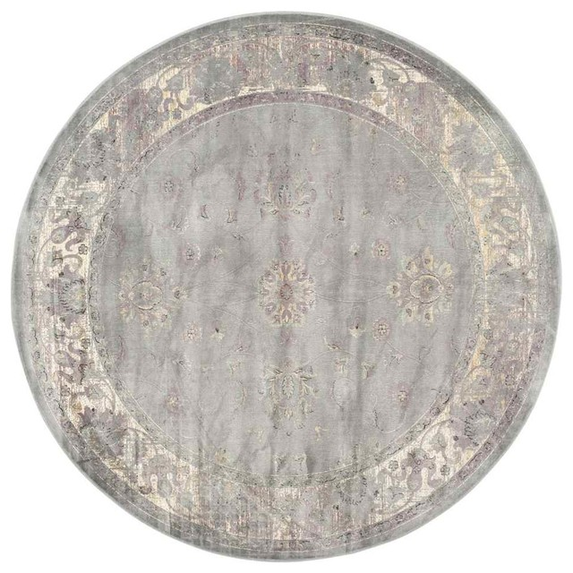 Traditional round area rug gray contemporary area for Round contemporary area rugs