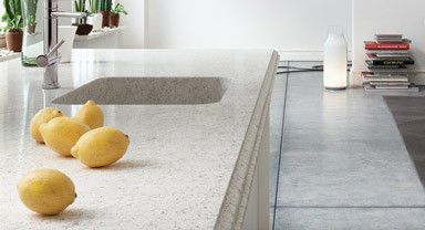 Silestone Nebula with Integrated Quartz Sink  kitchen countertops