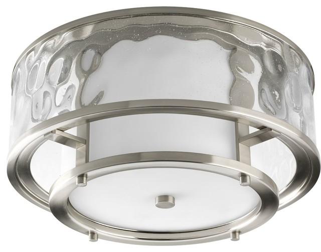 Progress Lighting Inspiration 2 Light Brushed Nickel: Flush-mount Ceiling