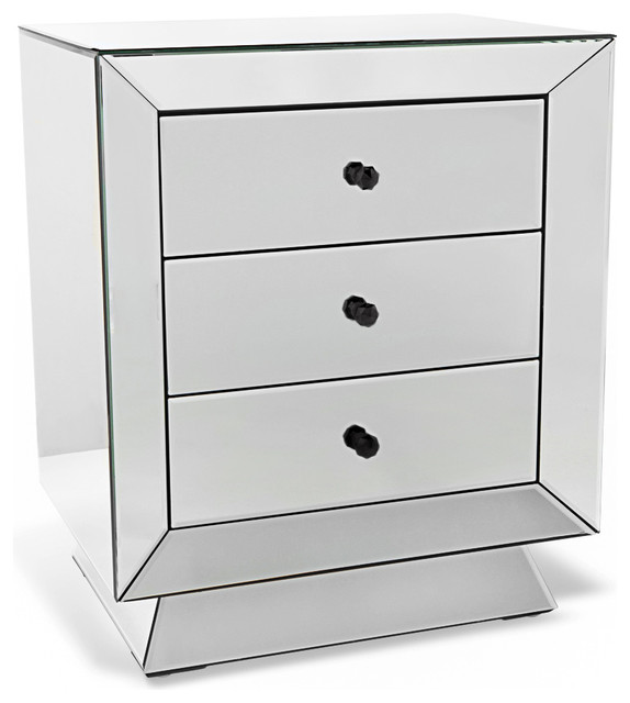 azul fully mirrored night stand