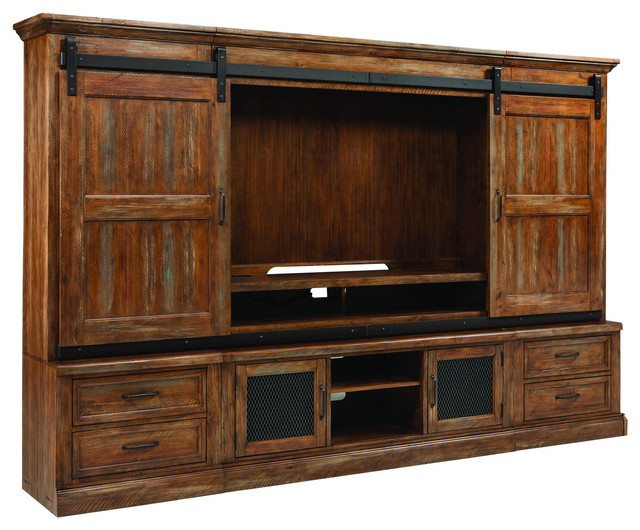 Intercon Furniture Taos Wall Entertainment Unit In Canyon Brown.