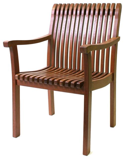Eucalyptus Venetian Arm Chair Craftsman Outdoor Lounge