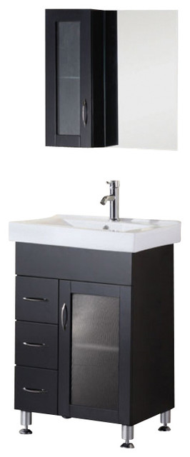 24 inch modern single sink bathroom vanity contemporary bathroom vanities and sink consoles for Single sink consoles bathroom