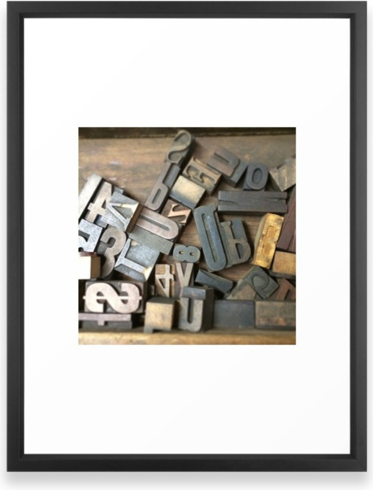 Vintage Wooden Letter Press Letters Framed Print