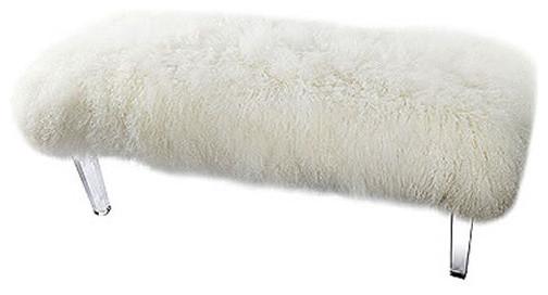 Mongolian Sheep Fur Bench 49