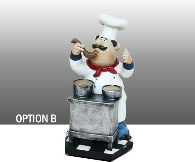 Kitchen art a place for everything mid century inspired kitchen - Chef Kitchen Decoration Set Table Art Statue Bistro