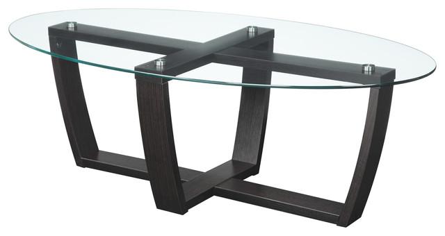 Newport Glass-Top Coffee Table.