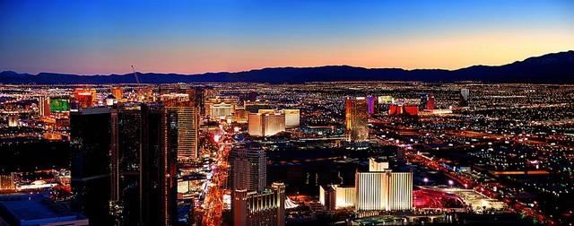 Las Vegas Aerial Panorama Wall Mural Self Adhesive