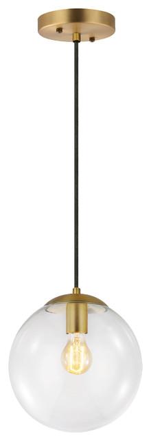 Tesler Globe Pendant, Clear. -1