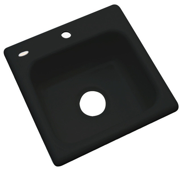 Aspen 1-Hole Bar Sink, Black.