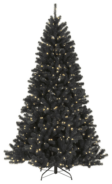 North Valley Black Spruce Tree With Clear Lights, 7.5'