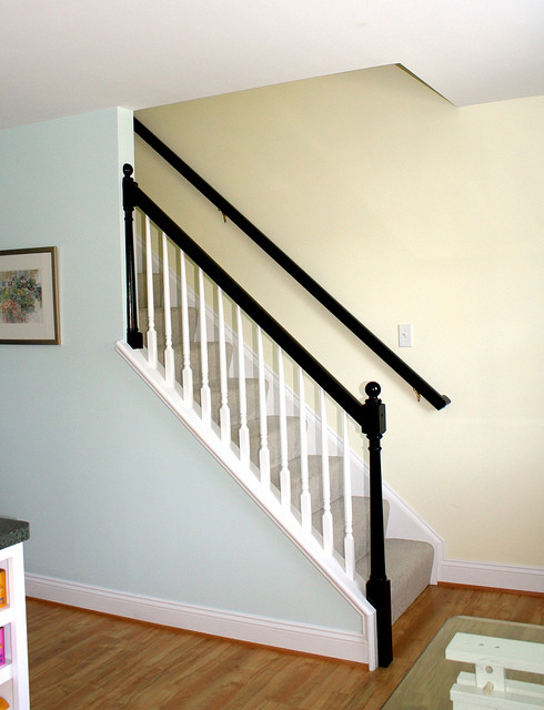 Black Banister Traditional Staircase Richmond By