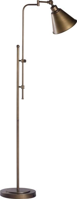Zuo Modern Rush Brushed Bronze Floor Lamp w/ 1 Light 60W - 56005