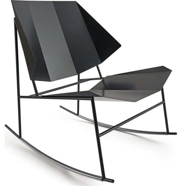 Atipico Terra Rocking Chair, Black Gray