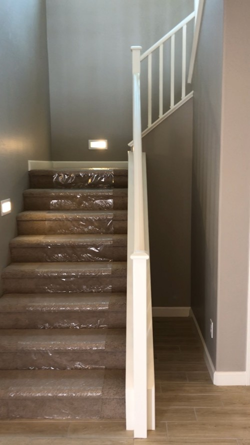 Attractive What To Do Eith Weird Space Between Stairs And Wall??