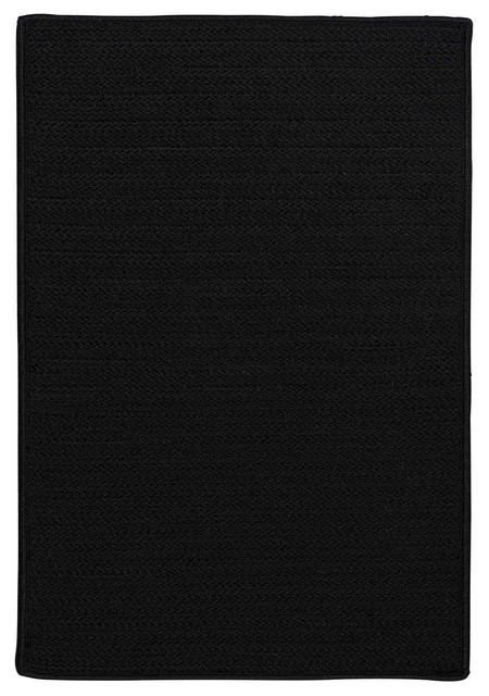 12u0027 Square (Large 12x12) Rug, Black Indoor/Outdoor Carpet Contemporary