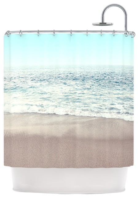 Monika Strigel The Sea Blue Coastal Shower Curtain Contemporary Curtains