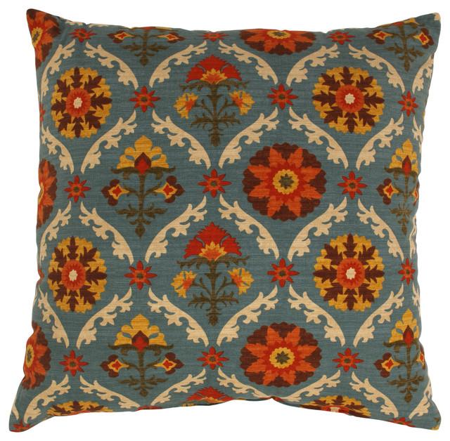 "Mayan Medallion 24.5"" Floor Pillow."