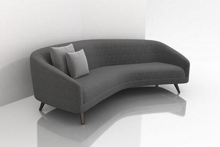 Modern Furniture Sofa mid century modern curved sectional sofa