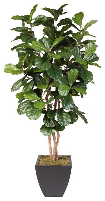 Artificial Fiddle Leaf Tree in Metal Pot