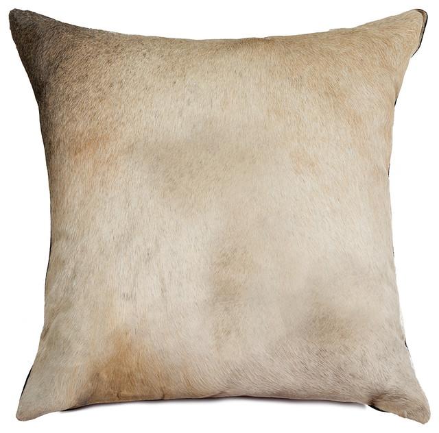 LIFESTYLE Torino Exotic Cowhide Pillow, Zebu, 18