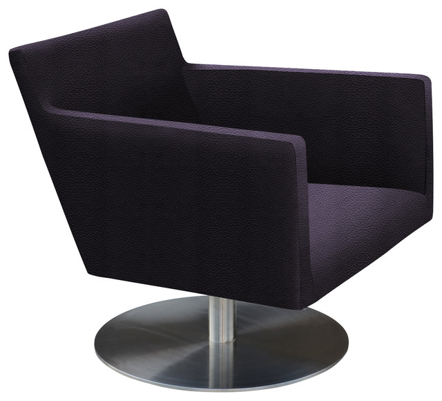 Harput Swivel Lounge Chair Stainless Steel Base Contemporary