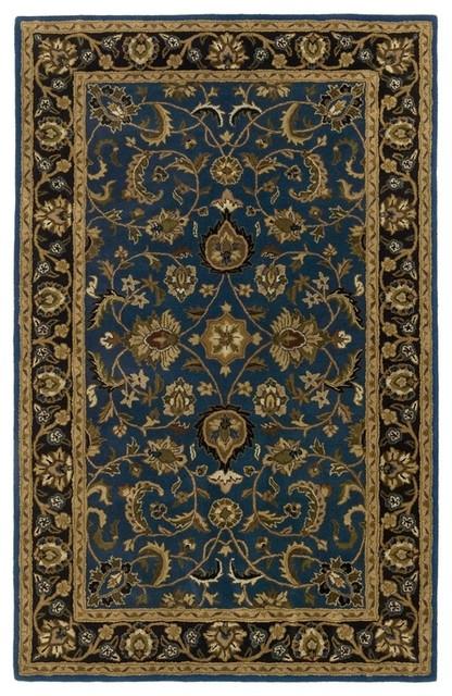 Black And Tan Area Rugs batroun ba171 blue, black, sage, tan, gold area rug, 8'x8