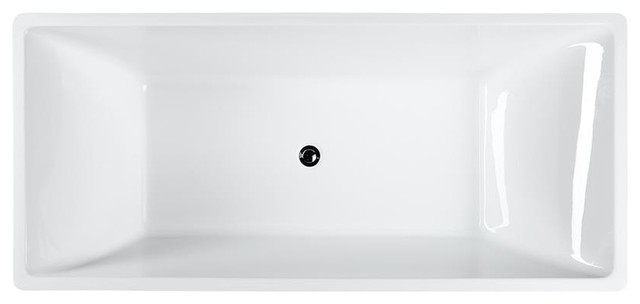 """Messina 71"""" Freestanding Bathtub, Glossy White."""