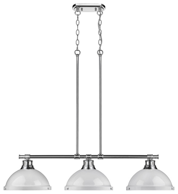 Golden Lighting Duncan 3 Light Linear Pendant