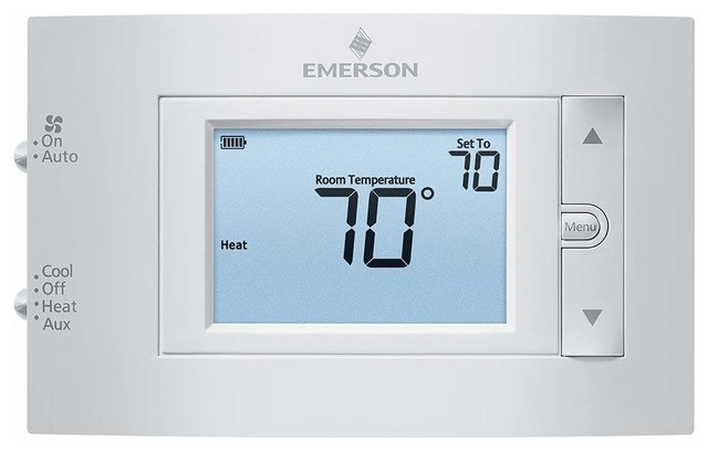 Emerson Heat Pump Non-Programmable Thermostat, 2h/1c.