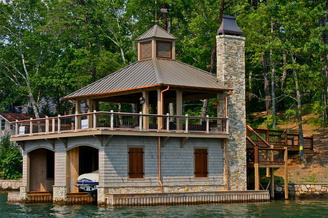Lake Burton Boat Houses Traditional Shed Atlanta