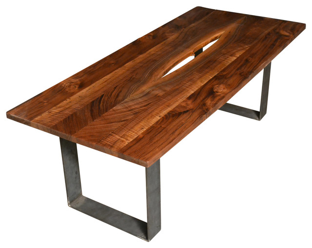 Black walnut coffee table rustic coffee tables by natural edge furniture Rustic black coffee table