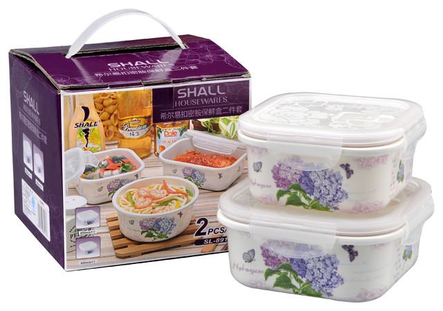 2 Piece Melamine Storage Container Modern Food Storage
