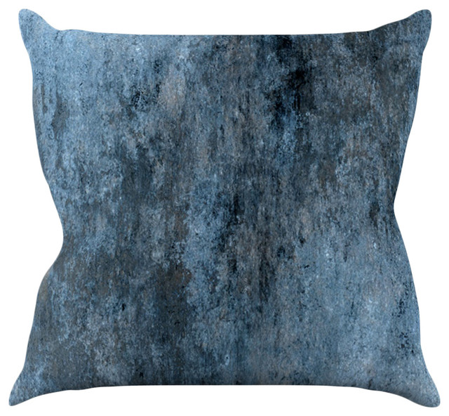 Dark Blue Throw Pillow : Kess InHouse CarolLynn Tice