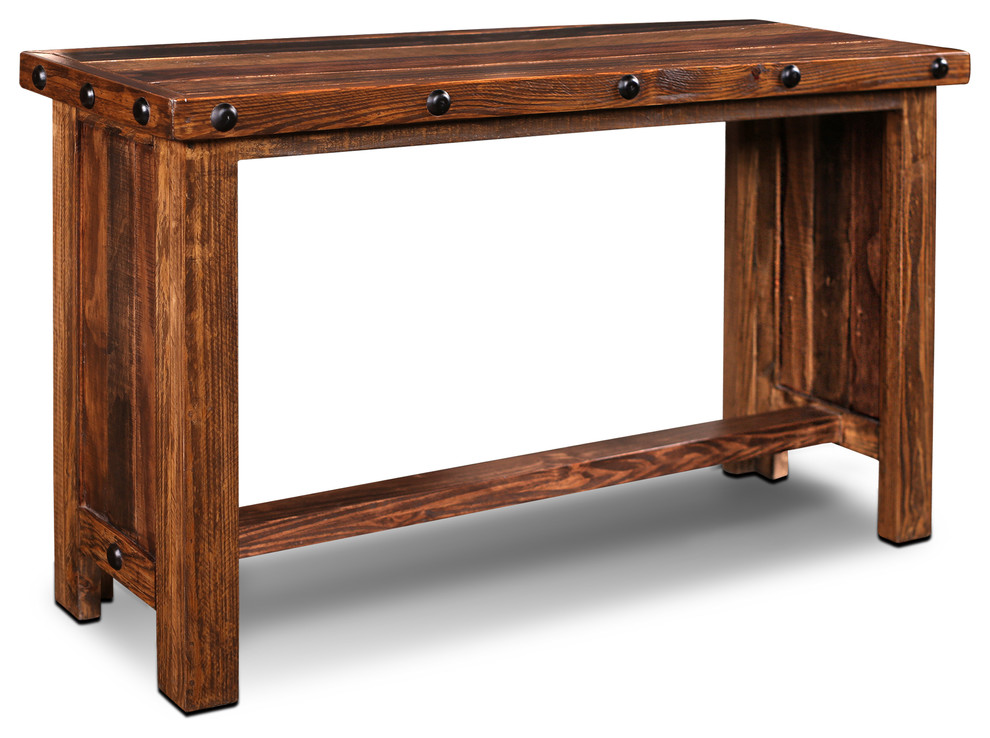 Westgate Solid Wood Rustic Brown Sofa Table/Farmhouse ...