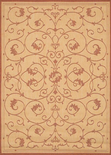 Couristan Recife 1583/1112 Veranda Outdoor Rug, Natural Terracotta, 5&x27;3x7&x27;6.