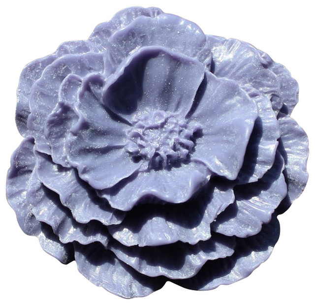 Large Poppy Flower Drawer Knobs - Contemporary - Cabinet And Drawer Knobs - by DaRosa Creations