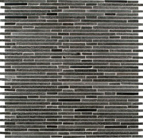 interlocking pattern honed tile, basalt blue bamboo