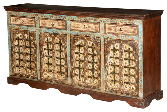 Turkish Solid Wood Sideboard Cabinet - Traditional - Buffets And Sideboards - by Sierra Living ...