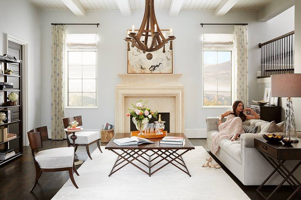 Inspiration for a transitional home design remodel in New York
