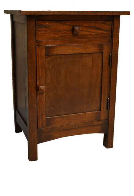 Mission Nightstand End Table Solid Oak Craftsman