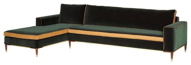 Elegance Chaise Sofa, Green