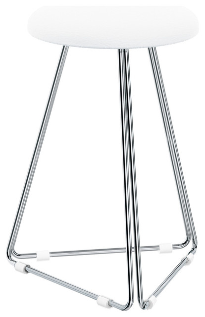dwba backless vanity stool bench with chrome metal legs stools