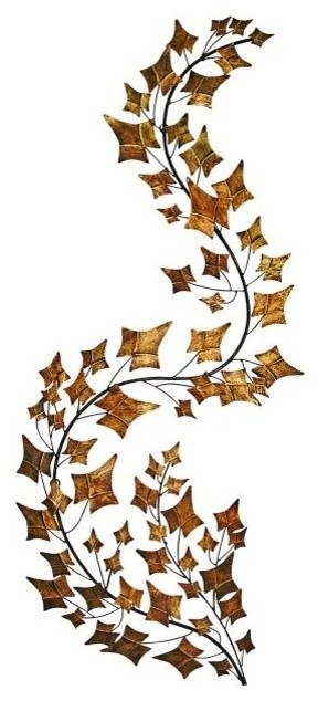 34 Curved Branch Metal Wall Art