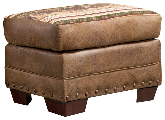 Wild Horses Ottoman Southwestern Footstools And