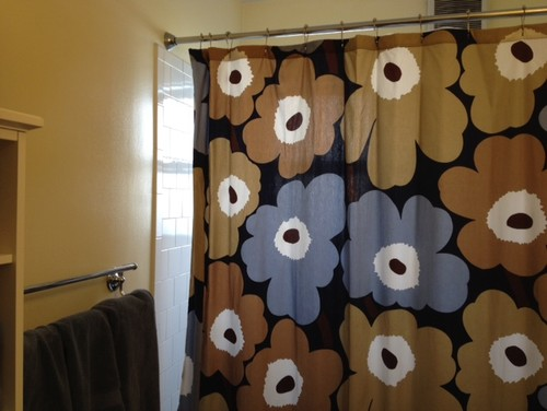 Beautiful Marimekko Unikko Dusk Shower Curtain